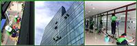 Dịch vụ vệ sinh kính tòa nhà