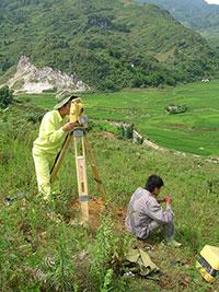 Khảo sát địa hình Thủy điện Chu Linh