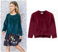 áo len đan lông vạt cao thấp