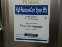 High Fruchtose Corn Syrup - Korea