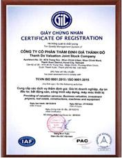 Thẩm định giá Thành Đô ISO9001:2015
