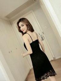 Đầm ren body 2 dây hotgirl