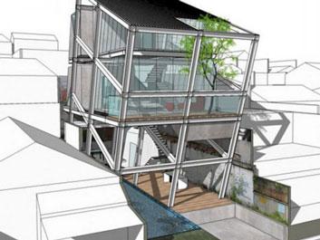 Nhà khung thép 3 tầng