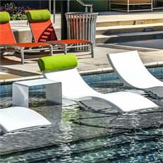 Ghế bể bơi Composite