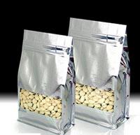 Túi zipper nhôm bạc