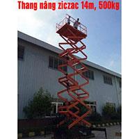 Thang nâng Ziczac 14m 500kg