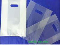 Túi nilon trắng gấp hông