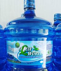 Nước uống đóng chai 20 lít Aqua World