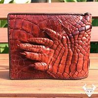 Bóp da cá sấu móng tay