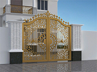 Sơn tĩnh điện cổng