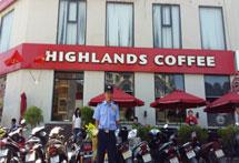 Bảo vệ cửa hàngHighlands Coffee