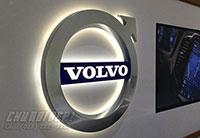 Thi công logo xe hơi Volvo