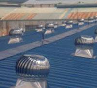 Công trình lắp quả cầu thông gió