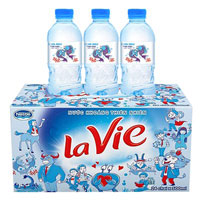 Thùng nước khoáng Lavie 24 chai 350ml