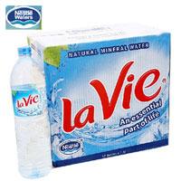 Thùng nước khoáng Lavie 12 chai 15l