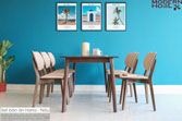 Set bàn ăn Hana - nâu