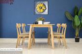 Set bàn ăn Marible tự nhiên