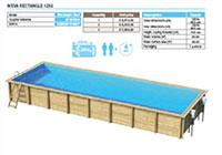 Bể bơi khung gỗ