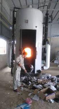 Lò hơi đốt rác vải vụn