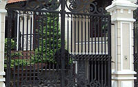 Sơn tĩnh điện cửa rào