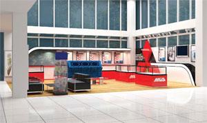 Lắp đặt gian hàng Mitsubishi