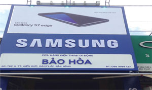 Thi công biển quảng cáo Samsung