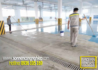 Thi công sơn sàn bê tông