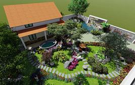 Dịch vụ thiết kế thi công sân vườn