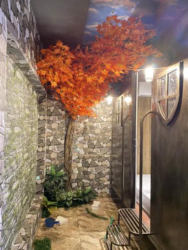 Tường cây hoa giả