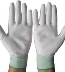 Găng tay PU phủ bàn màu trắng