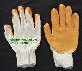 Găng tay phủ PU màu vàng