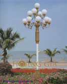Cột đèn trang trí nhiều bóng