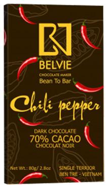 Socola đen chili pepper vị ớt 70% cacao