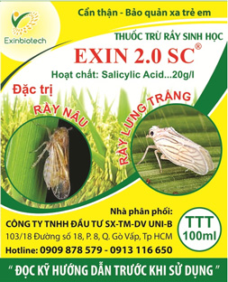 EXIN 2.0 SC - Thuốc trừ rầy