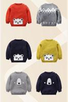 Áo len trẻ em họa tiết gấu