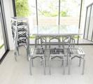 Bộ bàn inox và ghế đẩu inox DELI
