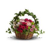 Giỏ hoa nhựa giả mây