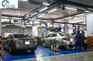 Thi công sơn sàn garage ô tô