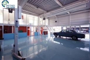 Thi công sơn Epoxy garage ô tô
