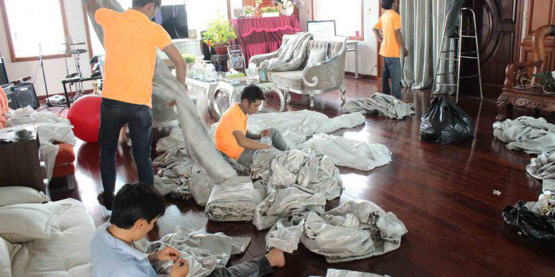 Dịch vụ giặt màn rèm