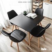 Bộ bàn vuông 4 ghế Eames