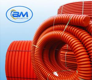 Ống nhựa HDPE gân xoắn luồn dây điện