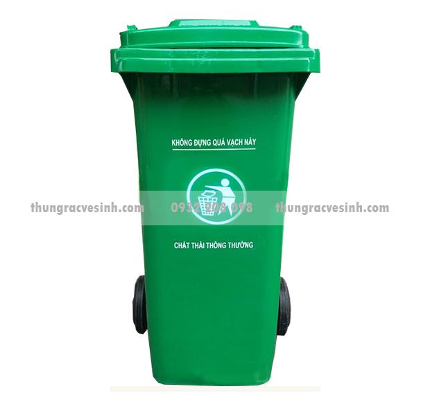 Thùng rác 120 lít màu xanh