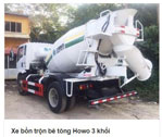Xe bồn trộn bê tông  Howo