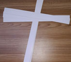 Khoanh cổ giấy cắt vuông
