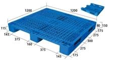 Pallet nhựa 3 chân lõi thép