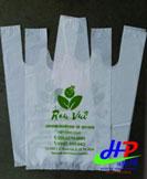 Túi xốp hai quai đựng rau sạch