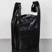 Túi nilon đựng rác đen có quai