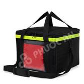 Túi giao hàng hộp màu đen viền xanh lá