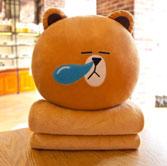 Chăn gối văn phòng gấu vàng sổ mũi